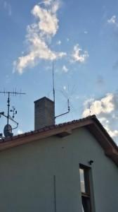 Můj anténní systém na domě / My antenna system on the house