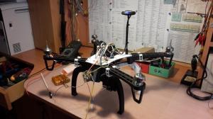 Stavba kvadrokoptéry / Quadrocopter construction