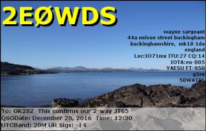 2E0WDS 20161228 1230 20M JT65