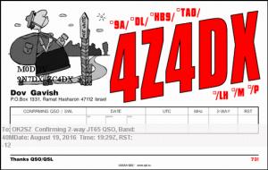 4Z4DX 20160819 1929 40M JT65