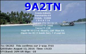 9A2TN 20160812 1423 20M JT65