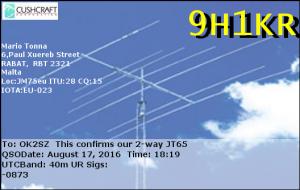 9H1KR 20160817 1819 40m JT65