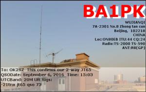 BA1PK 20160906 1503 20M JT65