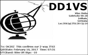 DD1VS 20170210 0731 80m JT65