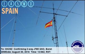 EA5WO 20160830 1206 20M JT65