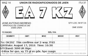 EA7KZ 20160817 1630 30M JT65