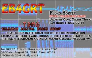 EB4GRT 20160831 0704 20M JT65