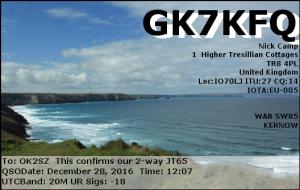 GK7KFQ 20161228 1207 20M JT65
