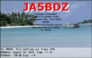 JA5BDZ 20160816 1115 17M JT65