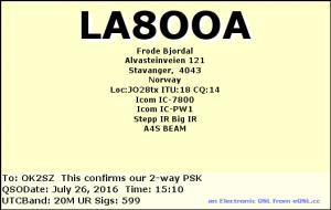 LA8OOA 20160726 1510 20M PSK