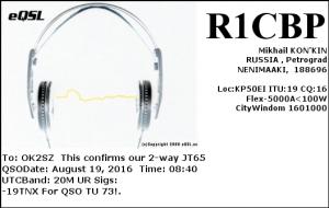 R1CBP 20160819 0840 20M JT65