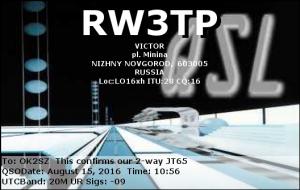 RW3TP 20160815 1056 20M JT65