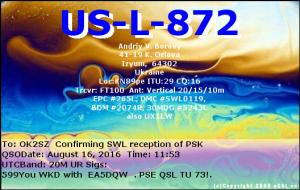US-L-872 20160816 1153 20M PSK