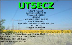 UT5ECZ 20170103 1651 20M JT65