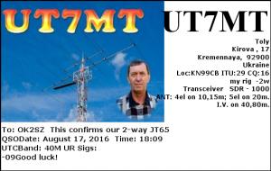 UT7MT 20160817 1809 40M JT65