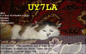 UY7LA 20160819 0823 20M JT65