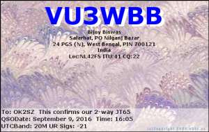 VU3WBB 20160909 1605 20M JT65
