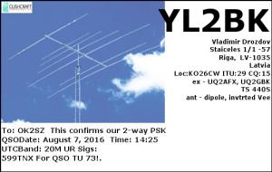 YL2BK 20160807 1425 20M PSK