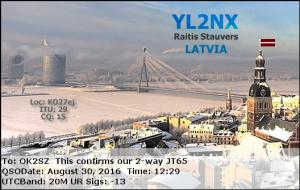 YL2NX 20160830 1229 20M JT65