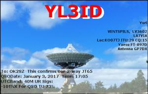 YL3ID 20170103 1705 40M JT65