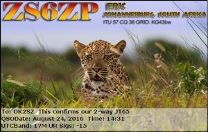 ZS6ZP 20160824 1431 17M JT65